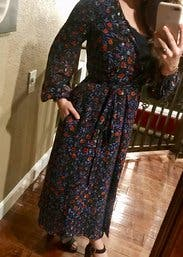 Folk Floral Wrap Dress By Cynthia Rowley For 95 Rent