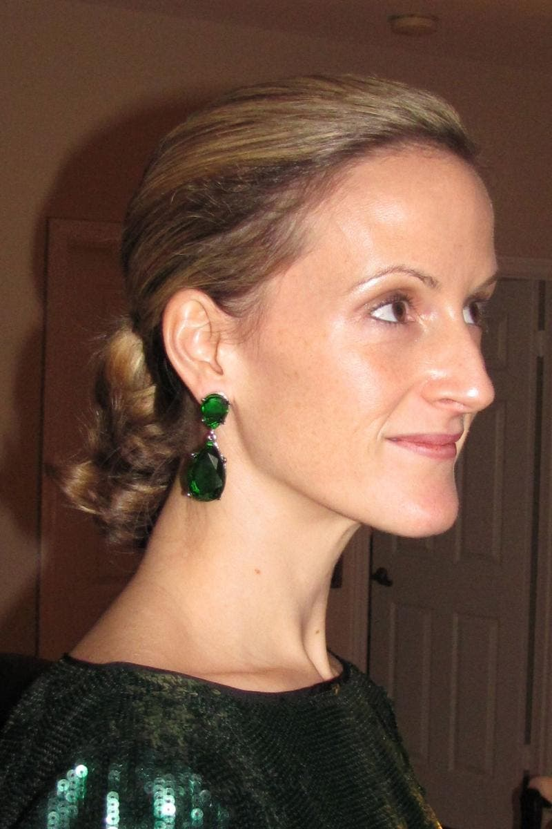 Emerald Drop Earrings From Kenneth Jay Lane 138235 The Runway
