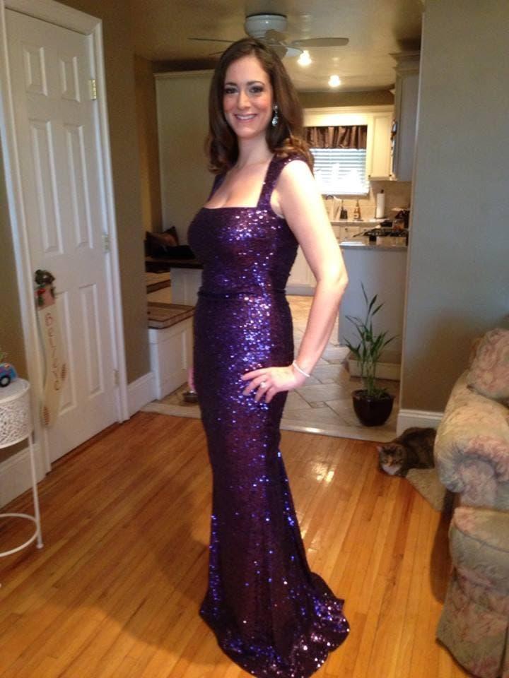 Rent Sequin Tyrian Purple Gown from Nicole Miller - 240526 | Rent ...