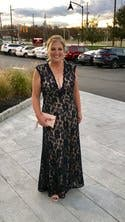 Navy Romantic Ride Gown by LM Collection for $50 - $70