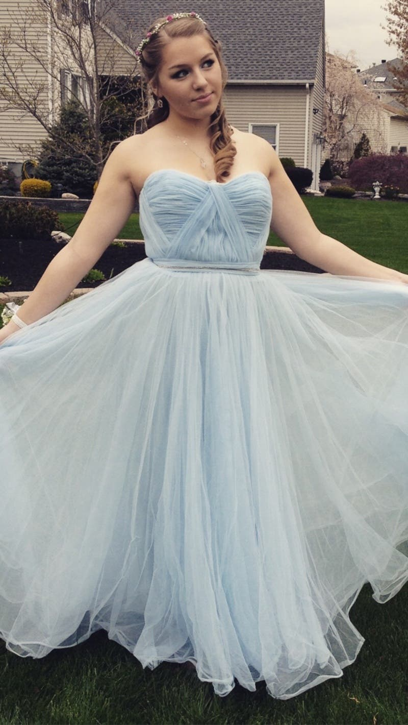 Blue Bennett Gown by Reem Acra for $230 | Rent the Runway