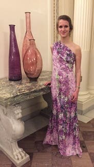 Purple Orchid Gown By Badgley Mischka For 130 150