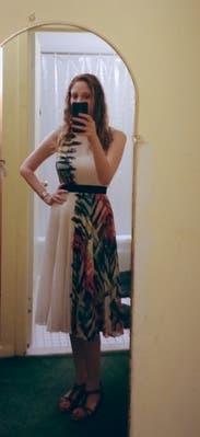 Zhanna Pleated Dress by BCBGMAXAZRIA for $55