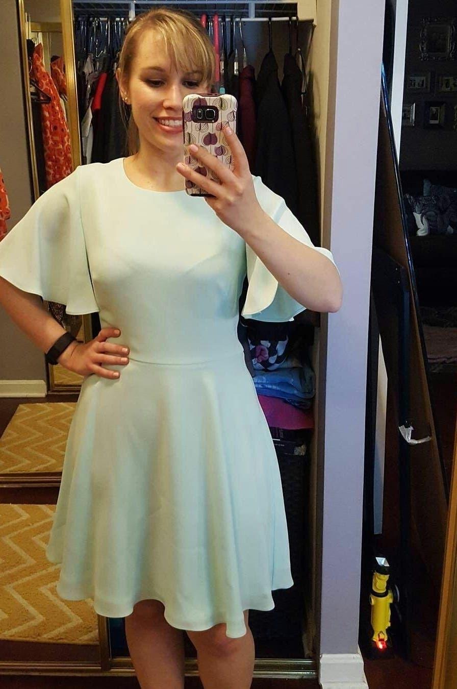 Mint Flutter Dress by Shoshanna for $45 - $65 | Rent the Runway