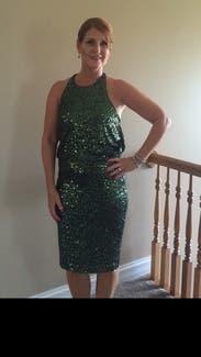 Evergreen Sequin Dress By Badgley Mischka For 45 65