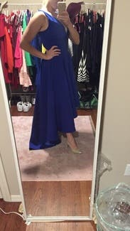 Cobalt Marilyn Gown By Allison Parris For 100 115