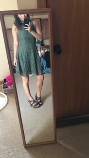 Green Porcelain Lace Dress By Keepsake For 30 50